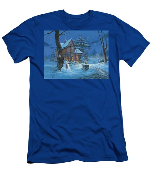 Once Upon A Winter's Night Men's T-Shirt (Slim Fit) by Michael Humphries