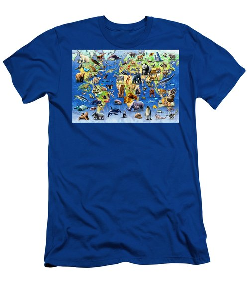 One Hundred Endangered Species Men's T-Shirt (Slim Fit) by Adrian Chesterman