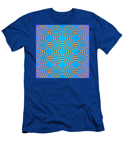 Optical Illusion Spinning Wheels Men's T-Shirt (Athletic Fit)