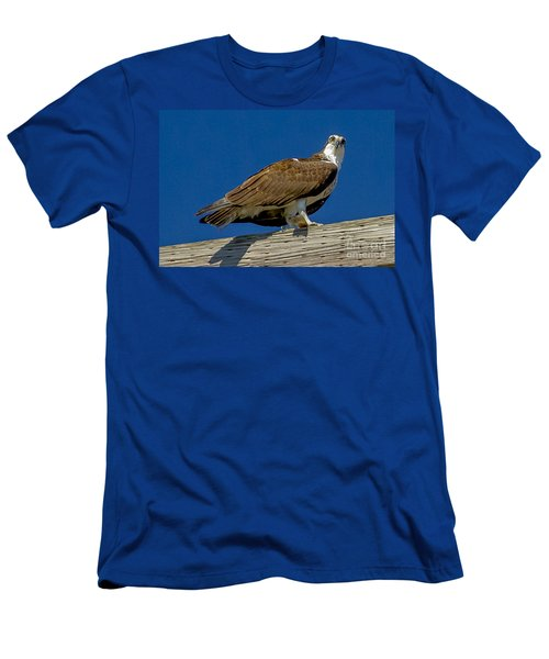 Men's T-Shirt (Slim Fit) featuring the photograph Osprey With Fish In Talons by Dale Powell