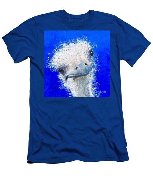 Ostrich Painting 'waldo' By Jan Matson Men's T-Shirt (Slim Fit) by Jan Matson