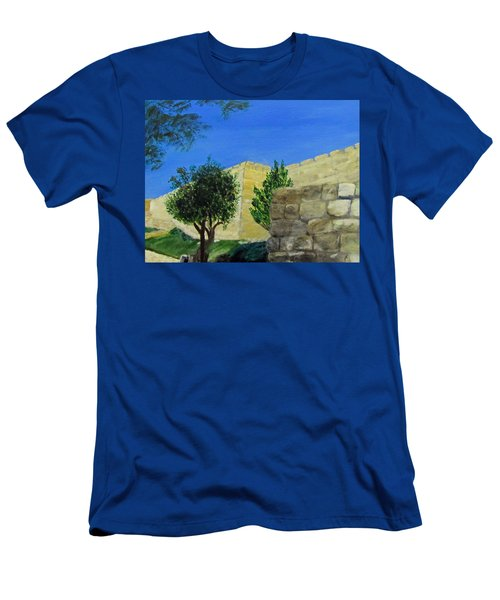 Outside The Wall - Jerusalem Men's T-Shirt (Athletic Fit)