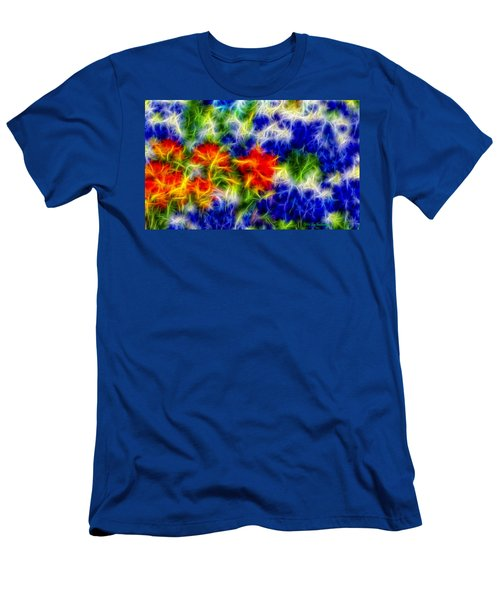 Painted Wildflowers Men's T-Shirt (Athletic Fit)