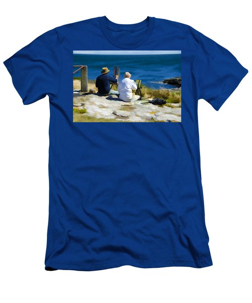 Painting The View Men's T-Shirt (Athletic Fit)