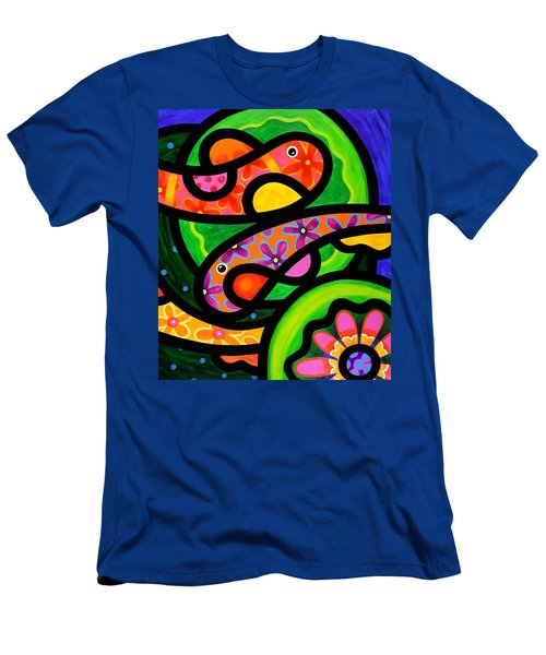 Paisley Pond - Horizontal Men's T-Shirt (Athletic Fit)