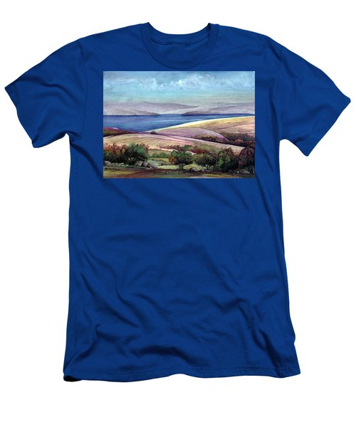 Men's T-Shirt (Slim Fit) featuring the painting Palestine View by Mikhail Savchenko