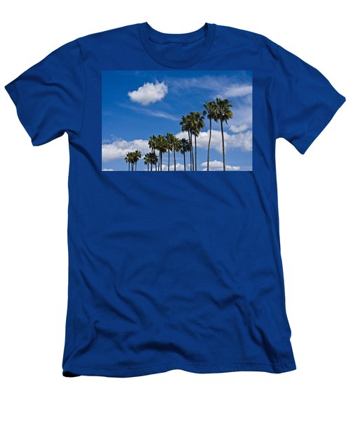 Palm Trees In San Diego California No. 1661 Men's T-Shirt (Athletic Fit)
