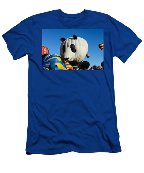 Panda Balloon Men's T-Shirt (Athletic Fit)