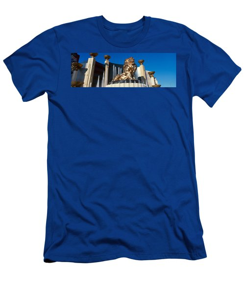 Panoramic View Of Mgm Lion And Mgm Men's T-Shirt (Athletic Fit)