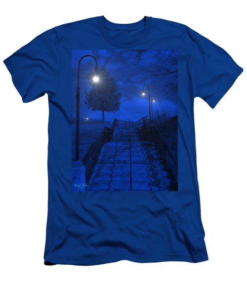 Men's T-Shirt (Slim Fit) featuring the photograph Park Stairs by Michael Rucker