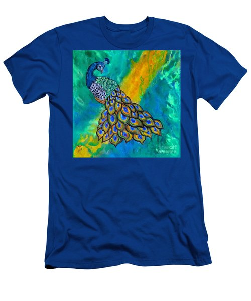 Peacock Waltz II Men's T-Shirt (Athletic Fit)