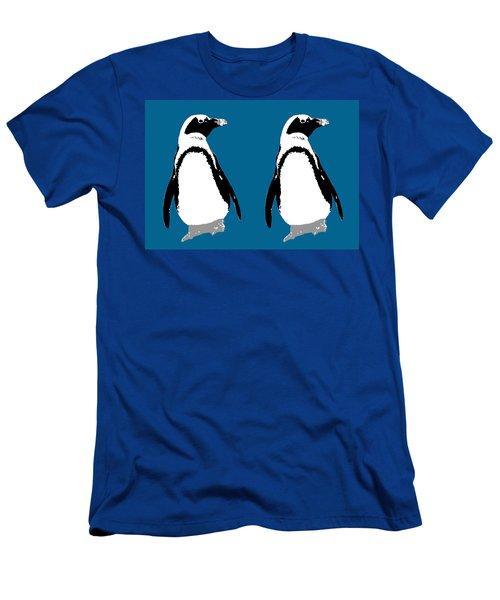 Penguin Twins  Men's T-Shirt (Athletic Fit)