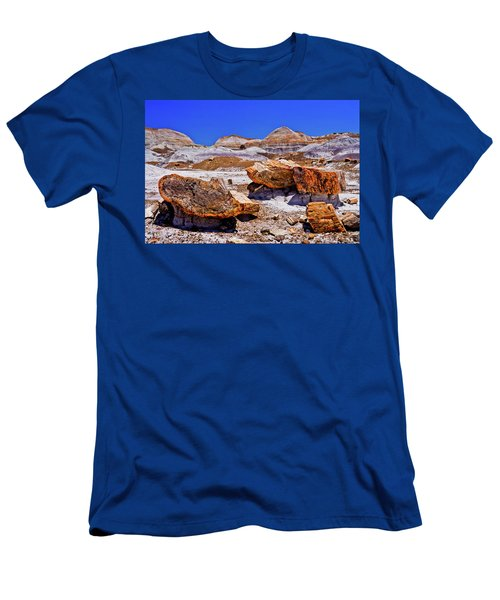 Men's T-Shirt (Slim Fit) featuring the photograph Petrified Forest - Painted Desert by Bob and Nadine Johnston
