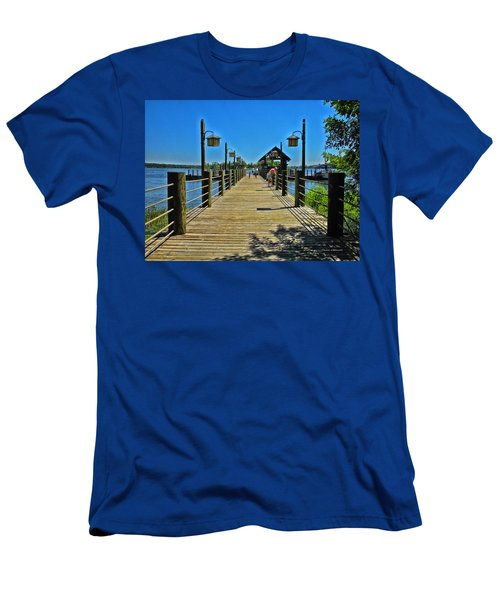 Pier At Fort Wilderness Men's T-Shirt (Athletic Fit)