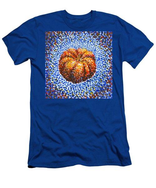 Pointillism Pumpkin Men's T-Shirt (Athletic Fit)