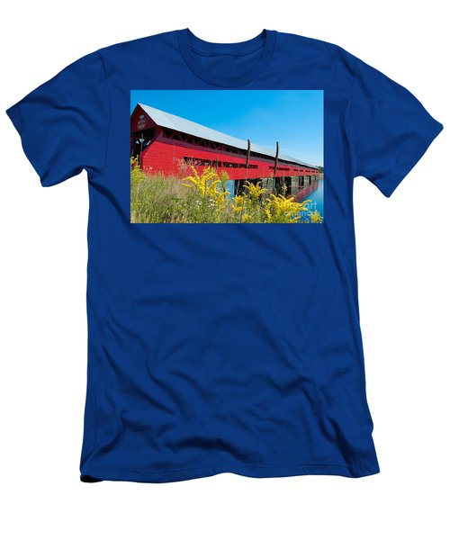 Men's T-Shirt (Slim Fit) featuring the photograph Pont Marchand by Bianca Nadeau