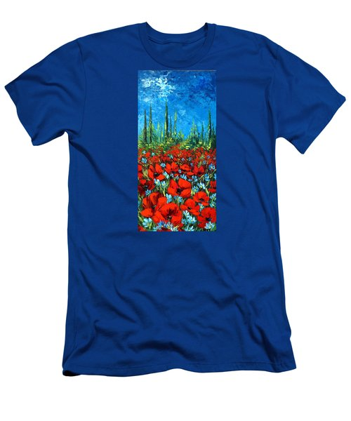 Poppie Field Men's T-Shirt (Slim Fit) by Katia Aho