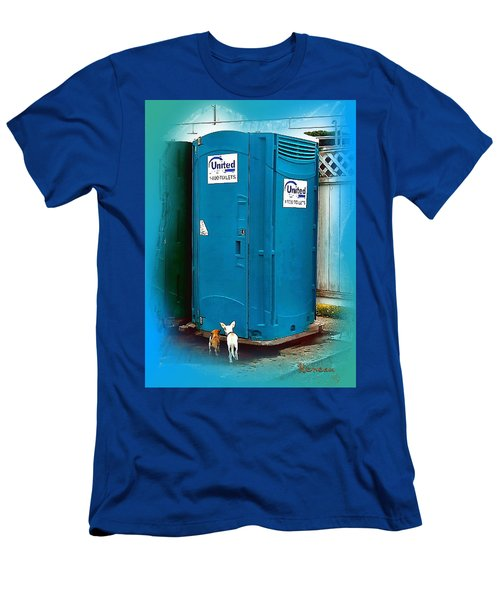 Men's T-Shirt (Slim Fit) featuring the photograph Porta Puppy Potty... by Sadie Reneau
