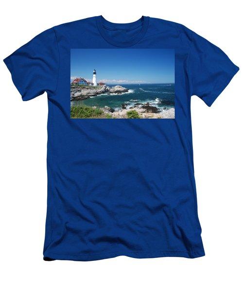 Portland Head Lighthouse Men's T-Shirt (Athletic Fit)