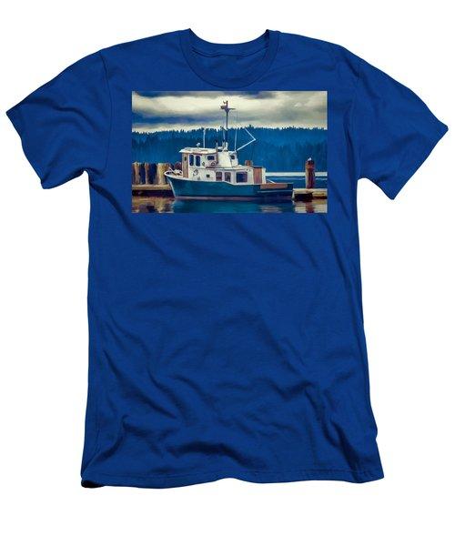 Poulsbo Waterfront 03 Men's T-Shirt (Slim Fit) by Wally Hampton