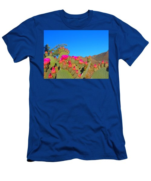Prickly Pear Blooming Men's T-Shirt (Athletic Fit)