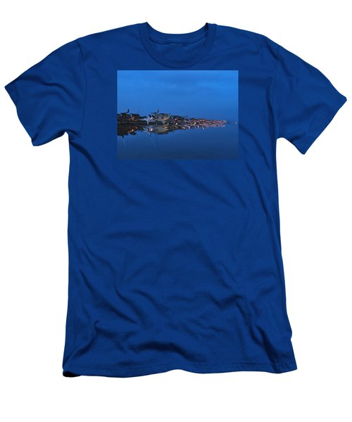 Promenade In Blue  Men's T-Shirt (Slim Fit) by Spikey Mouse Photography