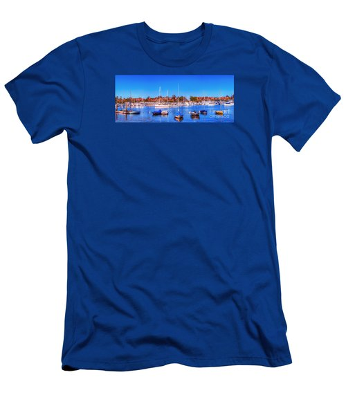 Men's T-Shirt (Slim Fit) featuring the photograph Promontory Point - Newport Beach by Jim Carrell