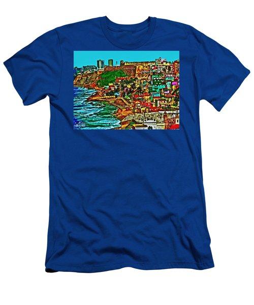 Puerto Rico Old San Juan  Men's T-Shirt (Athletic Fit)