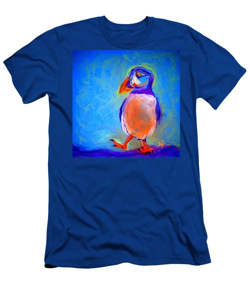 Funky Puffin Dancing Men's T-Shirt (Athletic Fit)