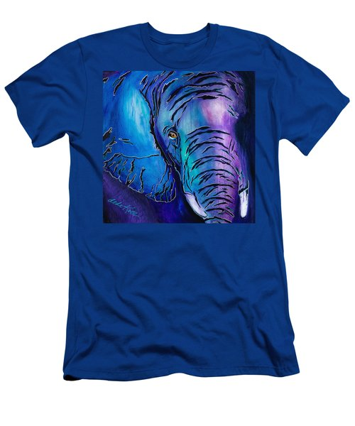 Purple Elephant Men's T-Shirt (Athletic Fit)