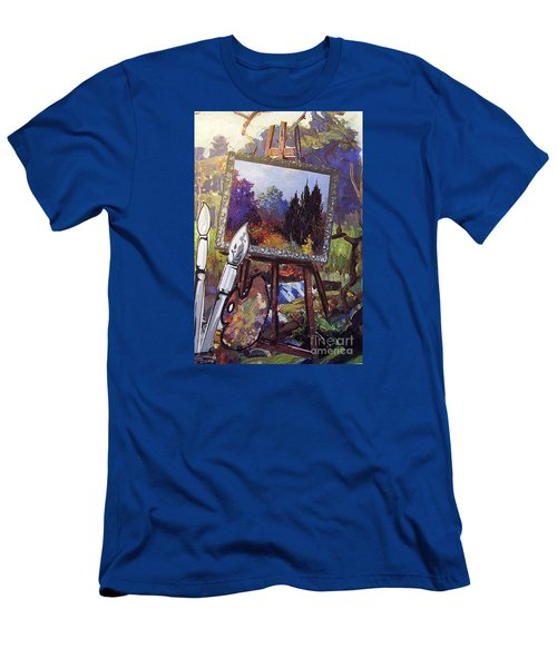 Men's T-Shirt (Slim Fit) featuring the painting Put Color In Your Life by Eloise Schneider