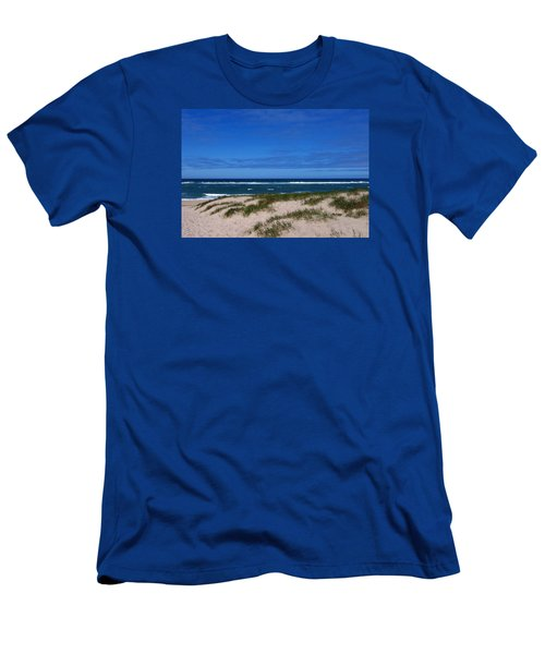 Race Point Beach Men's T-Shirt (Slim Fit) by Catherine Gagne