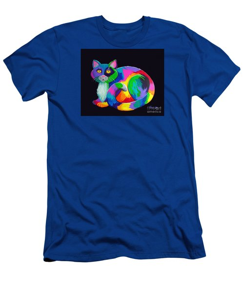 Rainbow Calico Men's T-Shirt (Athletic Fit)