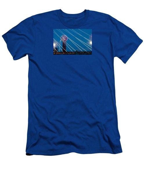 Reunion Tower Men's T-Shirt (Slim Fit) by Darryl Dalton