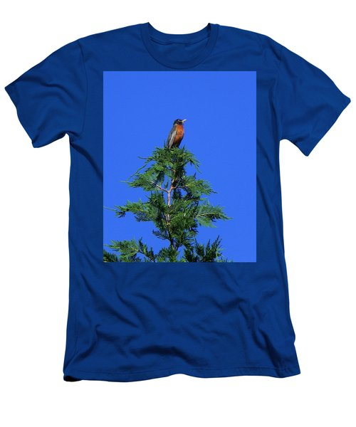 Robin Christmas Tree Topper Men's T-Shirt (Athletic Fit)