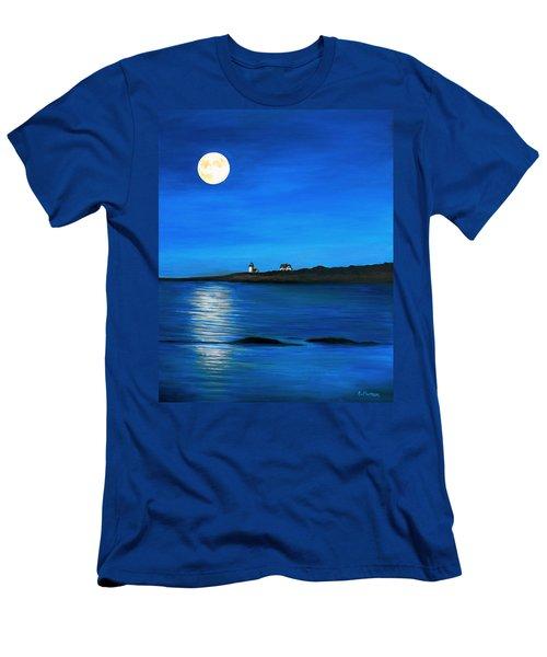 Rockport Harvest Moon Men's T-Shirt (Slim Fit) by Eileen Patten Oliver