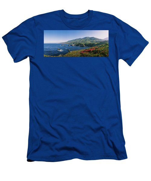 Rocks In The Sea, Carmel, California Men's T-Shirt (Athletic Fit)