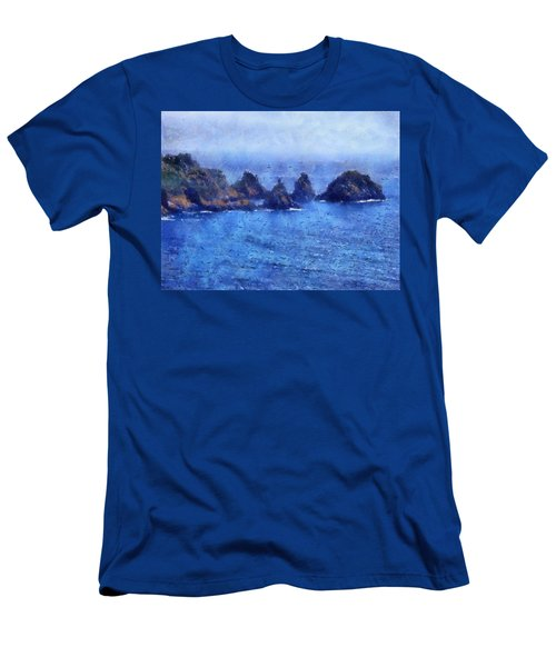 Rocks On Isle Of Guernsey Men's T-Shirt (Athletic Fit)