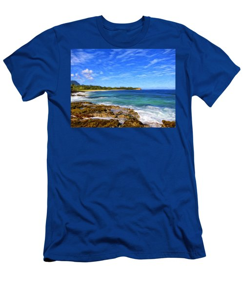 Rocky Shore Near Poipu Men's T-Shirt (Athletic Fit)