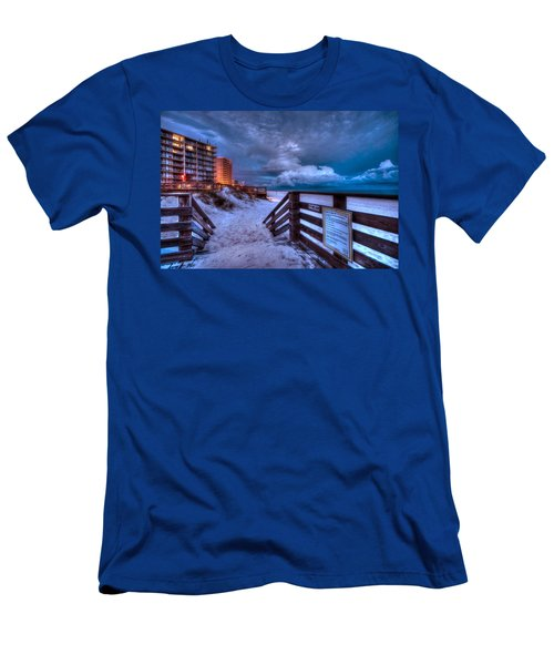 Romar Beach Clouds Men's T-Shirt (Athletic Fit)