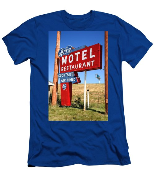 Route 66 - Art's Motel Men's T-Shirt (Athletic Fit)