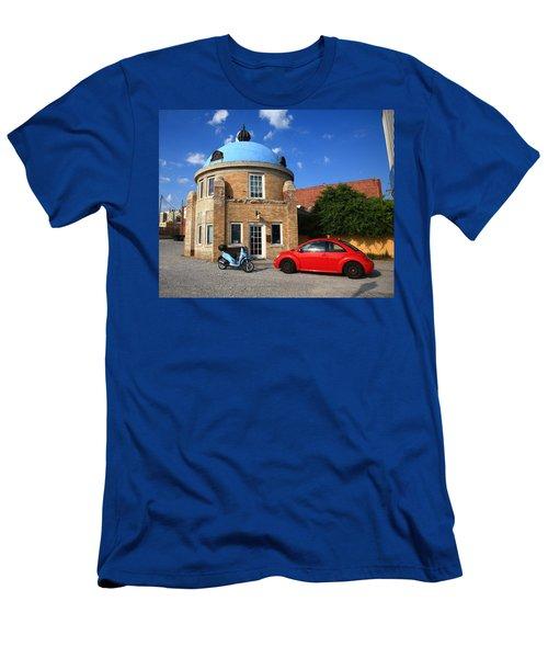 Route 66 - Blue Dome Of Tulsa Men's T-Shirt (Athletic Fit)