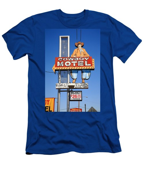 Route 66 - Cowboy Motel Men's T-Shirt (Athletic Fit)
