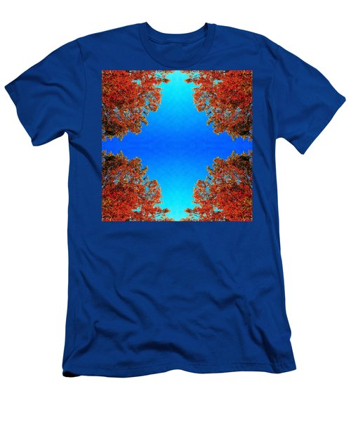 Men's T-Shirt (Slim Fit) featuring the photograph Rust And Sky 1 - Abstract Art Photo by Marianne Dow