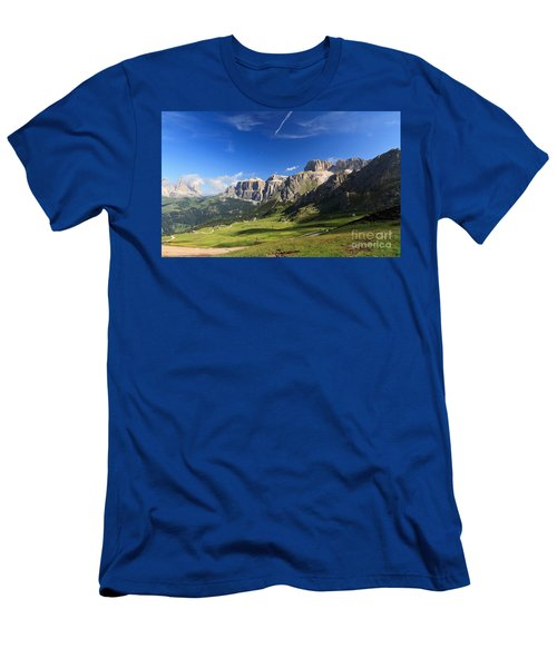 Saas Pordoi And Fassa Valley Men's T-Shirt (Athletic Fit)