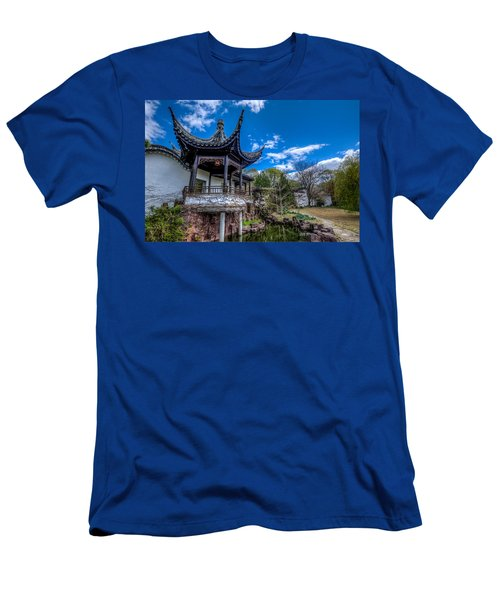 Men's T-Shirt (Athletic Fit) featuring the photograph Sacred Garden by Johnny Lam