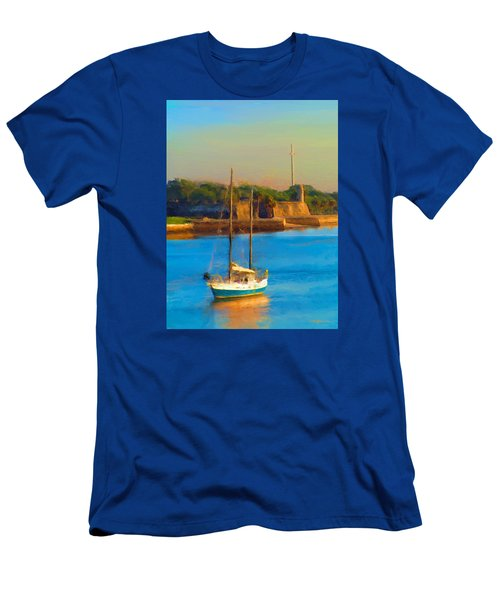 Da147 Sailboat By Daniel Adams Men's T-Shirt (Athletic Fit)