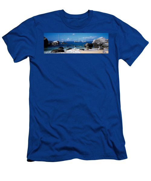 Sailboats In The Sea, The Baths, Virgin Men's T-Shirt (Athletic Fit)