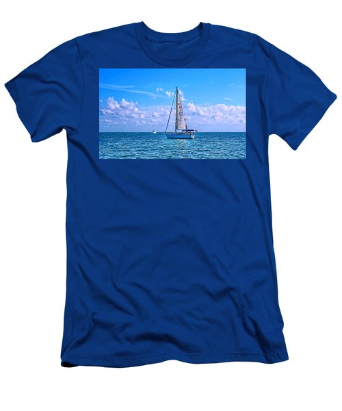 Sailing Off Of Key Largo Men's T-Shirt (Athletic Fit)