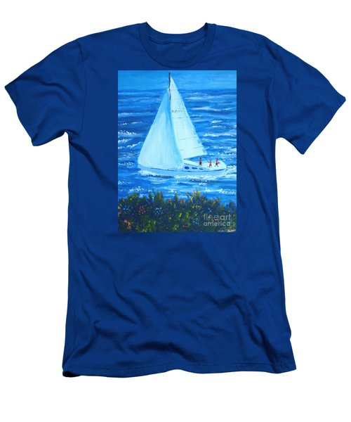 Sailing Off The Coast Men's T-Shirt (Athletic Fit)